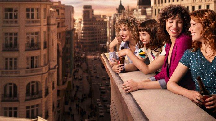 Valeria (Netflix). Valeria con todas sus amigas