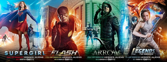 crossover flash arrow supergirl legends of tomorrow
