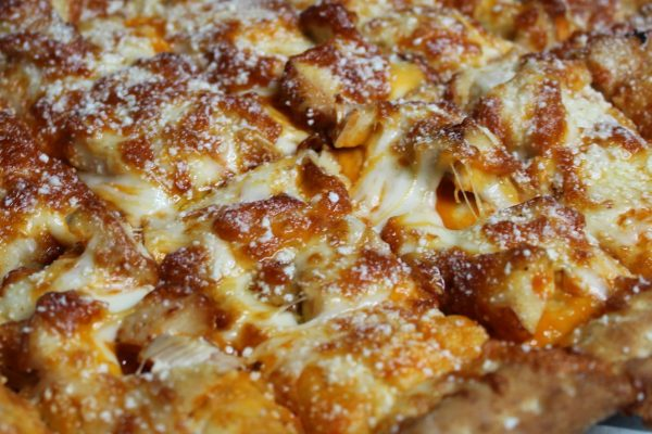 Buffalo Chicken Cheesy Bread
