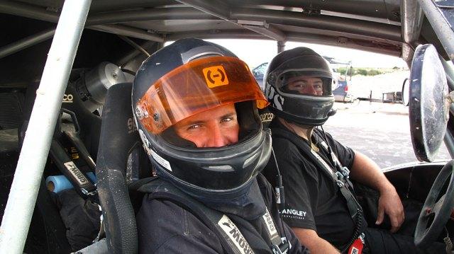 Josh and Dan in a prerunner, headed to La Paz.