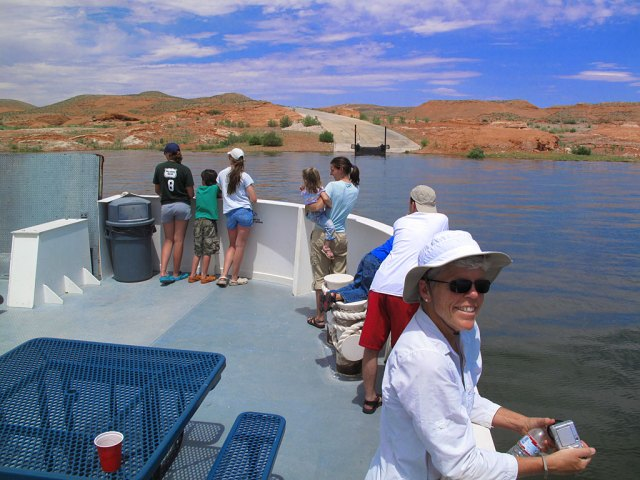 Approaching Bullfrog Landing on the west side of Lake Powell.