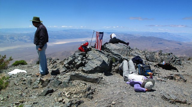 Resting at the summit.