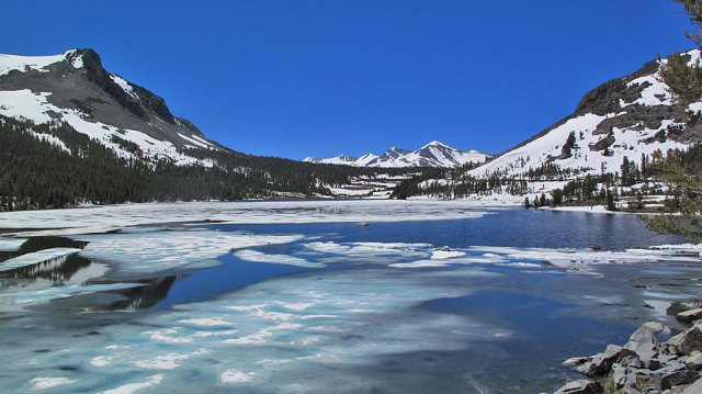 Tioga Lake looking toward Tioga Pass.