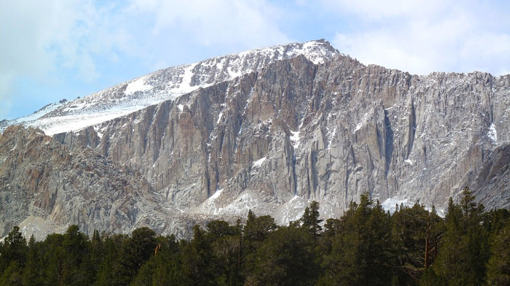 From Cottonwood Lakes, we had a great view of Mt. Langley, 14,042', standing almost 3,000' above our picture-taking location. Langley is the southern-most of the 14ers.
