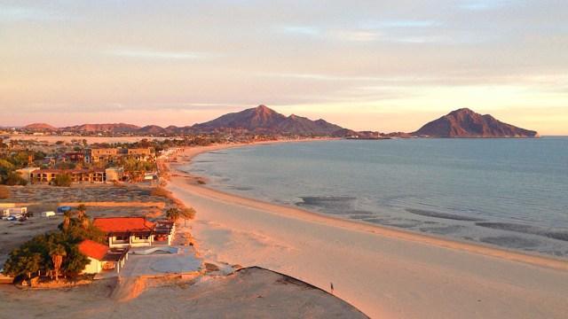 A spectacular San Felipe sunrise seen from the sixth floor of the Playas del Paraiso Resort.