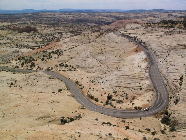 After Burr Trail fun, we continued west on Highway 12, a spectacular road cut through Utah's rocks.