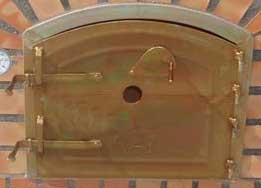 zweigeteilte Tür Holzbackofen