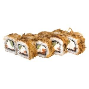 310р БОНИТО ЛОСОСЬ состав лосось,сливочный сыр,стружка тунца,огурец.
