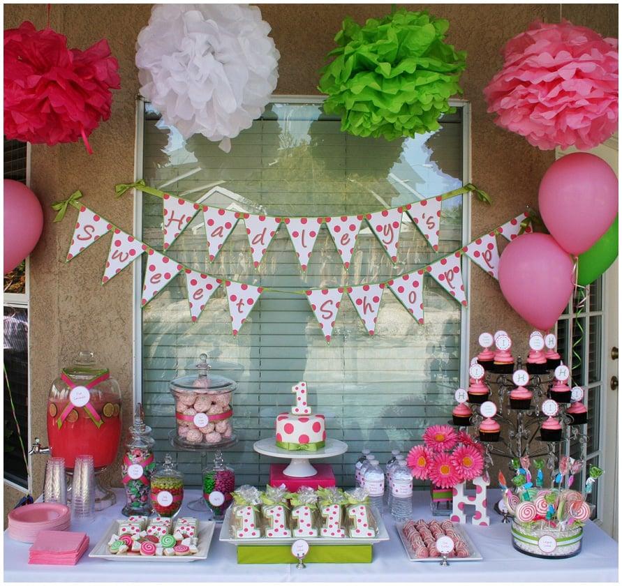 Polka Dot Sweet Shoppe 1st Birthday Party Pizzazzerie