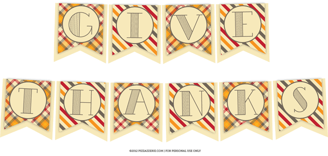 Free Thanksgiving GIVE THANKS Banner on Pizzazzerie.com