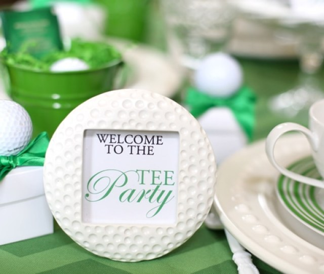 Host A Golf Tee Party From Pizzazzerie