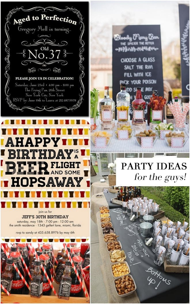 Adult Birthday Party Ideas For The Guys Pizzazzerie