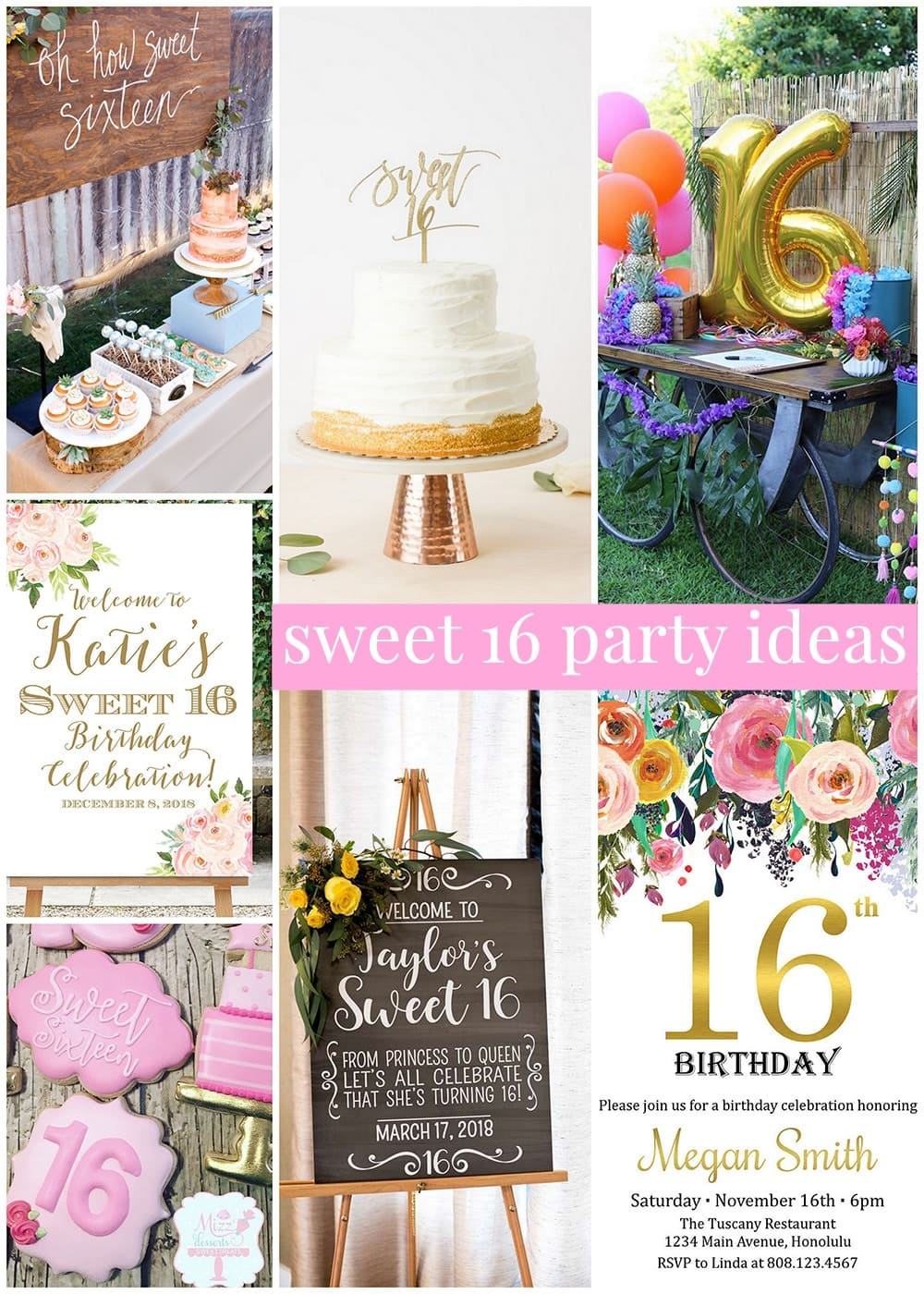 Sweet 16 Birthday Party Ideas Decorations Themes Lots More