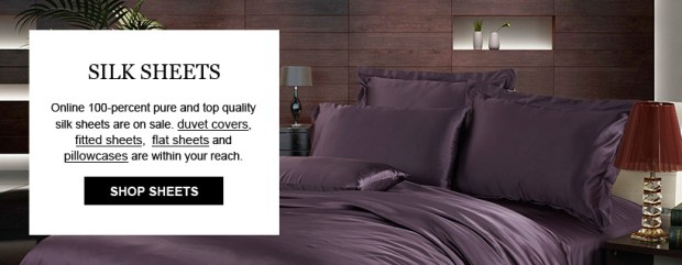 sleep like a baby, luxurious silk bedding, silk duvets,