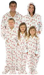 footed pajamas for the family, family matching christmas pjs, footed pajamas,