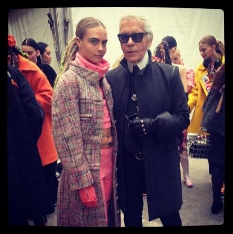 Baksviðs með Karl Lagerfeld á Fashion Week 2014.