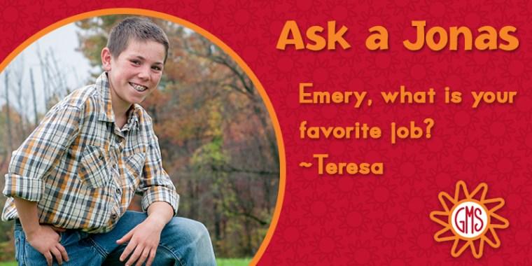 Ask a Jonas-emery_favorite job_blog