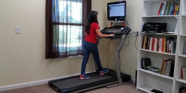 School Room Bookshelf & Treadmill Desk