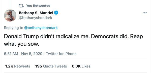 Democrats not Trump radicalized me