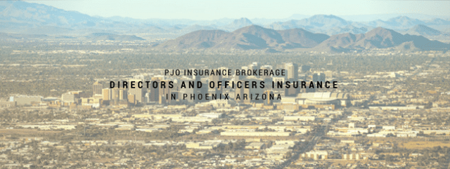 PJO Brokerage City of PHX Directors & Officers Insurance Services