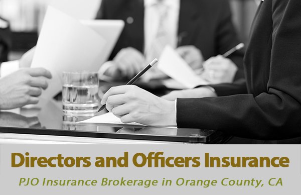 Directors and Officers Insurance in Orange County California