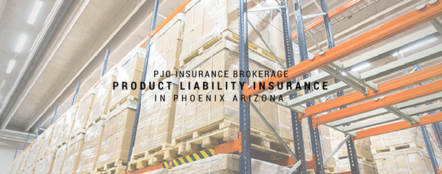 PJO Brokerage City of PHX Product Liability Insurance Services