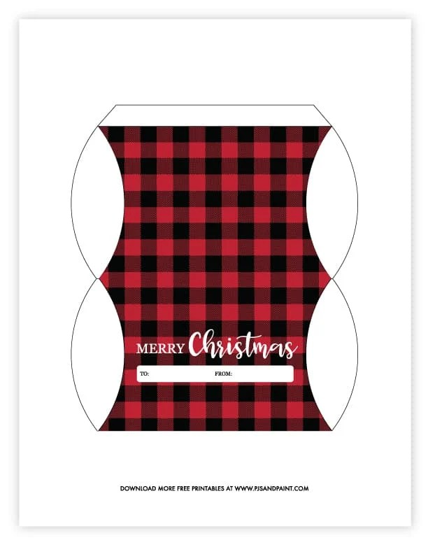 free printable christmas pillow boxes