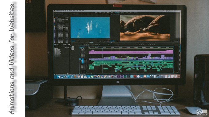 making animated images and designing web animations and videos for websites
