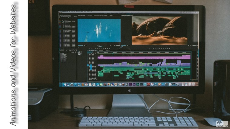 making animated images and web animations and videos for websites