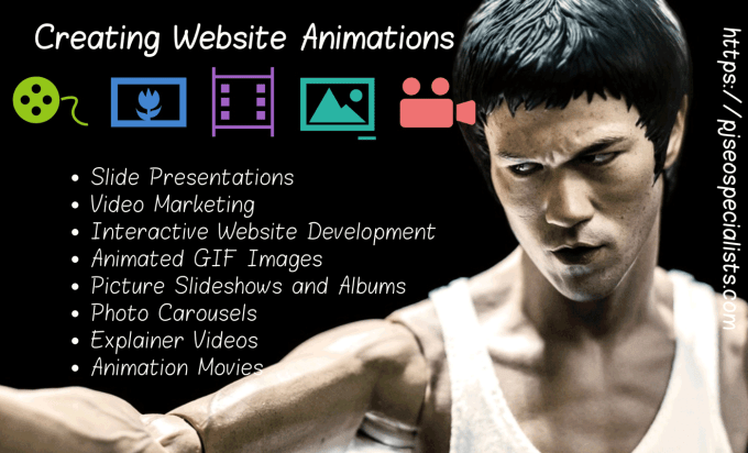 web page designers creating video animation films and storyboard movies