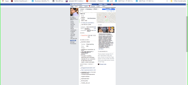 make a professional brand profile for your company on facebook business page