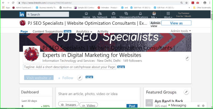 linkedin company page improved to enable higher visibility on searches