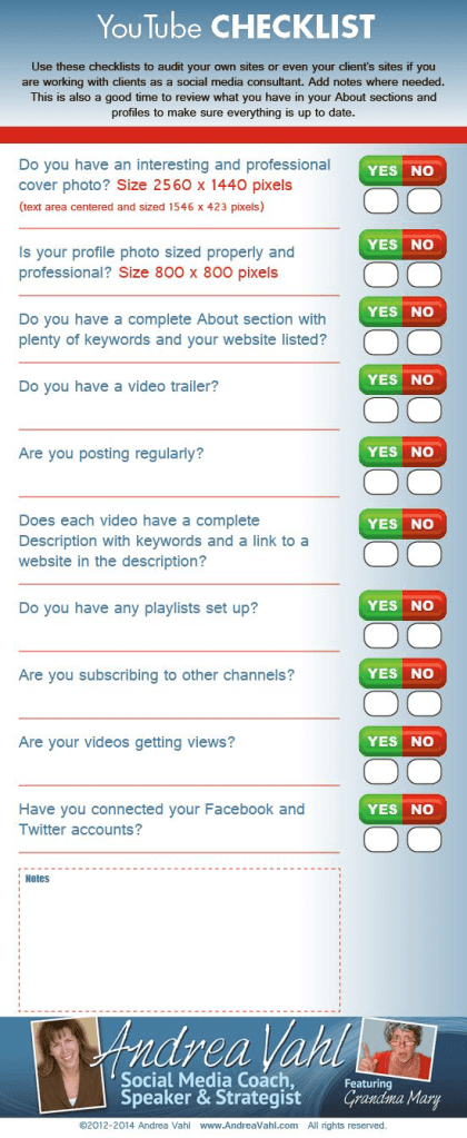 checklist for utilizing features in your youtube marketing videos channel