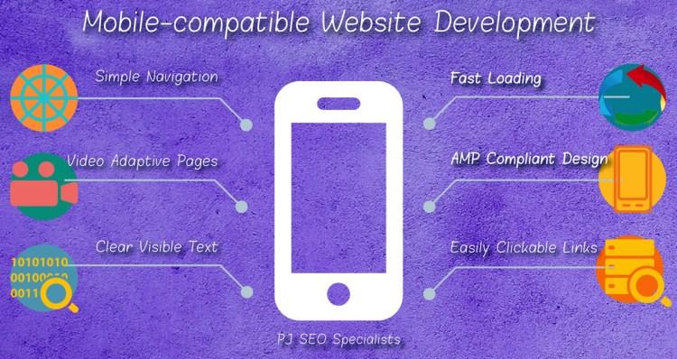 service providers optimizing mobile websites with easy navigation and fast loading