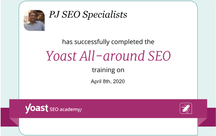 yoast all-around seo training certification