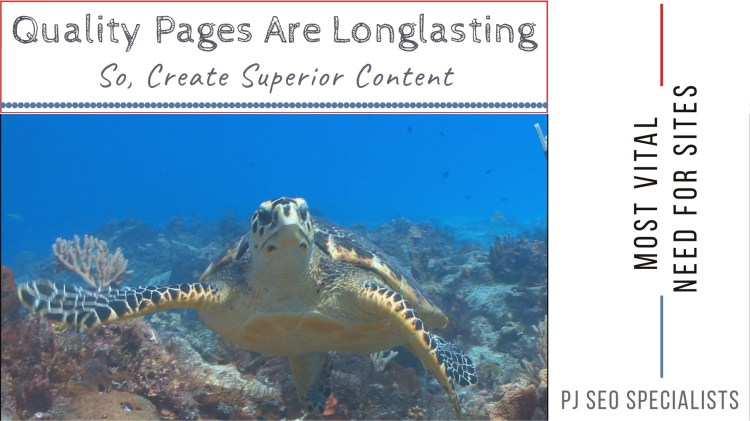 build high quality content to last long at search engine results pages