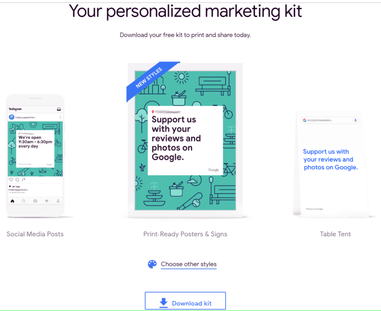 personalize the design in the free marketing kit at this digital promotion resource