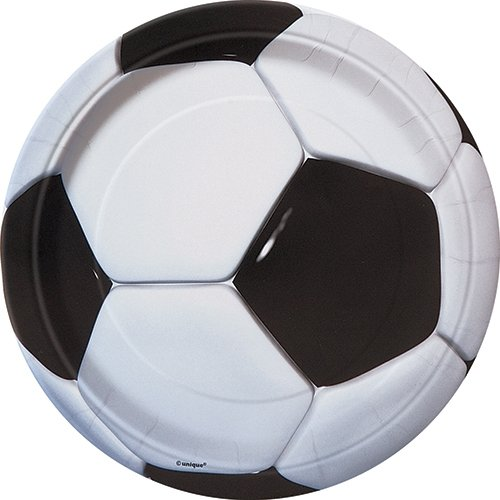 Soccer Dinner Plates, 8ct