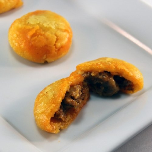 Arepas with Chorizo and Manchego Cheese - Gourmet Frozen Pork Appetizers (40 Piece Tray)