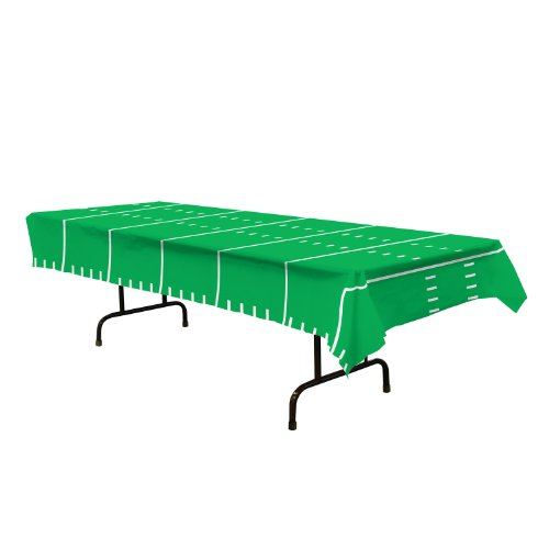 """Beistle Game Day Football Tablecover Party Accessory (1 count) (1/Pkg) (108"""" X 54"""")"""