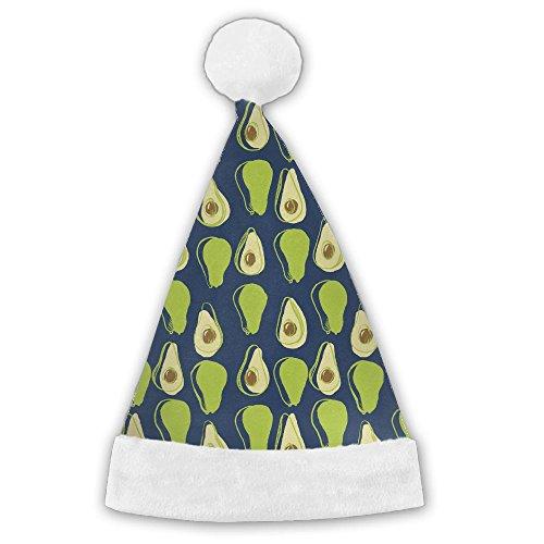 ChRat Avocado Slice Half Christmas Santa Claus Hat Party Supplies Costume XMas Decoration Cap For Women/Men/Kids