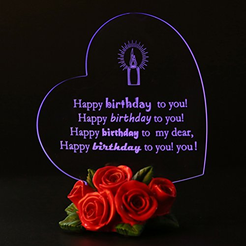 Giftgarden Birthday Gifts Cake toppers LED Light for Friends Happy Birthdays