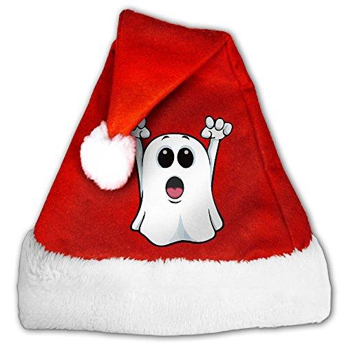MingDe YY Kawaii Ghost Adults Child Velvet Santa Hat Christmas Hat Xmas Hat