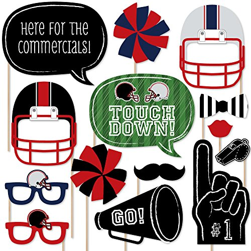 Super Bowl - Party Photo Booth Props Kit - 20 Count