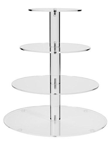 4 Tier Round Wedding Acrylic Cupcake Stand Tree Tower Cup Cake Display(4TR)