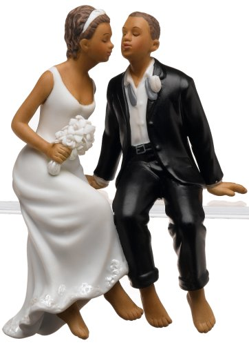 Weddingstar Whimsical Sitting Bride and Groom - Non-Caucasian