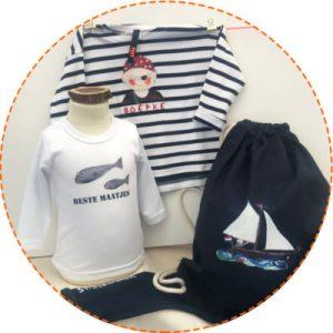 winkel duurzame kinderkleding met piraat, zeilboot, walvis en beste maatjes