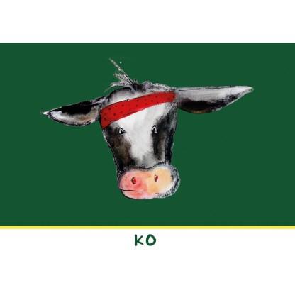 """kaart ko uit de serie, 5 Friese kinderkaarten """"Op de boerderij"""""""