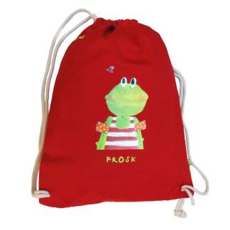 """Kikker gymtas """"frosk"""" van biokatoen voor kinderen"""