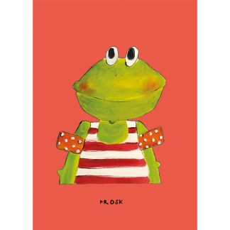 poster kikker 20x30 voor de kinderkamer van atelier Pjut in Leeuwarden